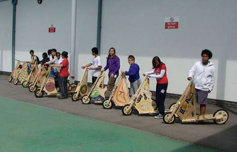 Customizable Wooden Scooters