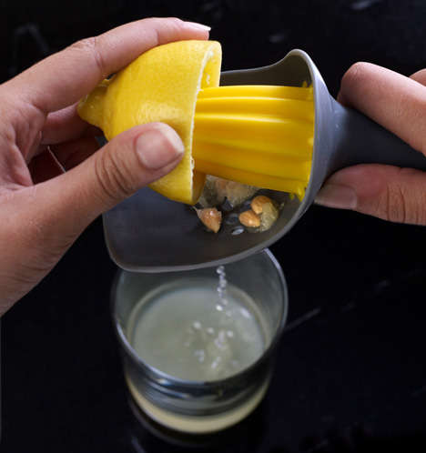 Seed-Catching Squeezers - Catcher Lemon Squeezer Makes Fresh Lemonade With Ease