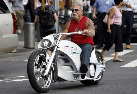 Eco-Friendly Choppers - Orange County Choppers Design Electric Motorcycle for Siemens