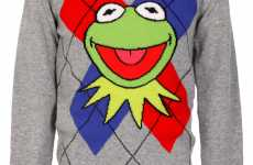 Amphibian Attire - Jean Charles de Castelbajac Creates a Kermit the Frog Sweater