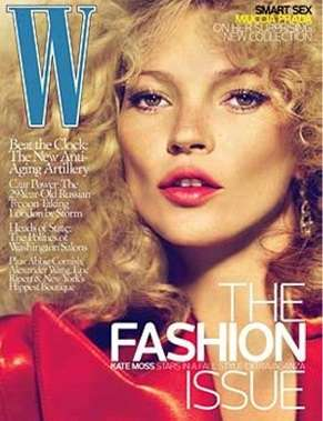 Pouffy Perm Photoshoots - Kate Moss Channels 80s Style for September Issue of W Magazine
