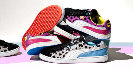 Mash-Up Pattern Kicks - Puma Suede 'Angler' Shoes are a Mix Up of Styles