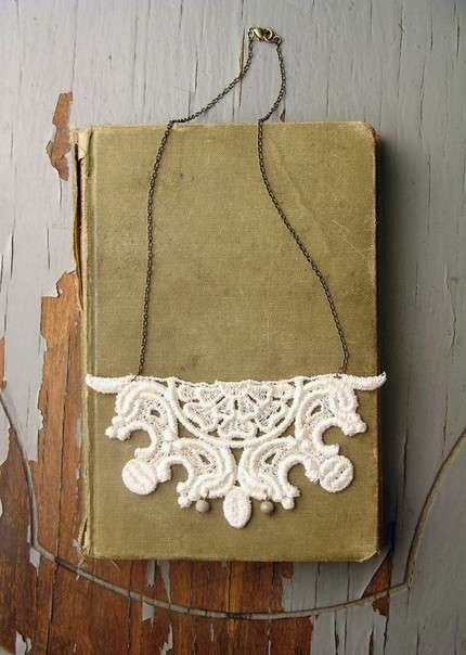 Doily Necklaces