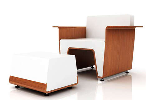 Sleek Hideaway Seating
