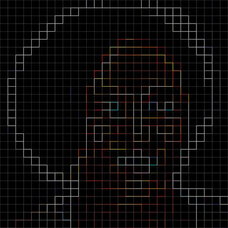 Pixel Face Portraits