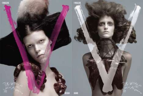 Animalistic Covers - V Magazine Shows Wild World of Women & Supreme Models