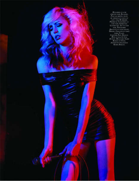 Rock Icon Editorials - Raquel Zimmermann is Deborah Harry for 'Blondie' in Vogue Paris