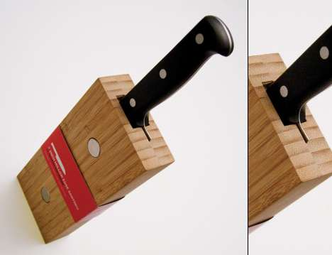 Modular Knife Blocks - Aaron Root's Knives Are Individually-Packaged & Magnetized