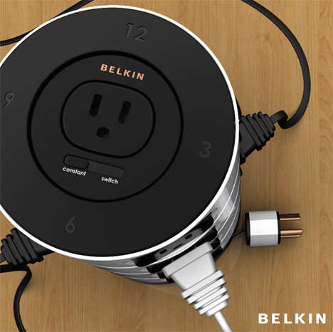 Time-Sensitive Surge Protectors - The Belkin TimeOutlet Design Has 4 Timed Sections