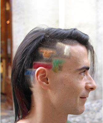 Tetris Hair Styles - Man Dyes & Styles Hair to Commemorate His Favorite Game