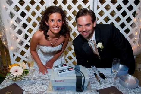Classy Gamer Weddings - Couple Ties the Knot With Nintendo Accessories