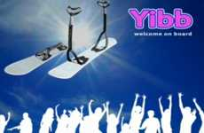 Snowboard Training Wheels - The Yibb Snowboard Helps Young and Rookie Riders