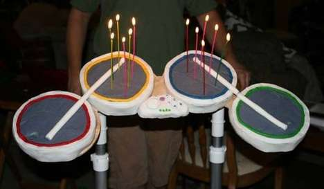 Musical Cakes - Mom Makes 'Rock Band' Birthday Cake for Gamer Son