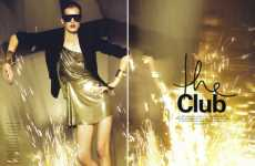 "Party Fashion Editorials - Model Denisa Dvorakova Parties in ""The Club"" for Flair"