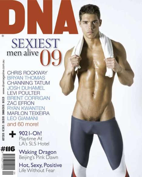 Anti-Manscaping Cover Shoots - DNA Magazine's 'Sexiest Men Alive' Issue Lets It Hang Out