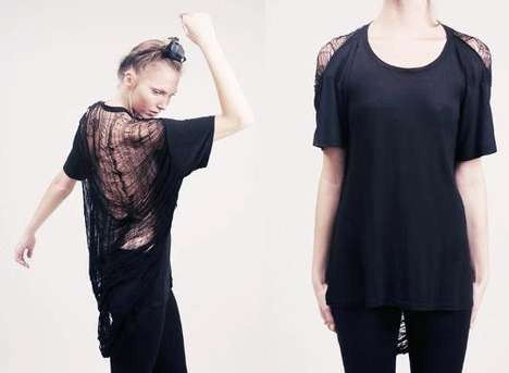 Tattered Spiderweb T-Shirts