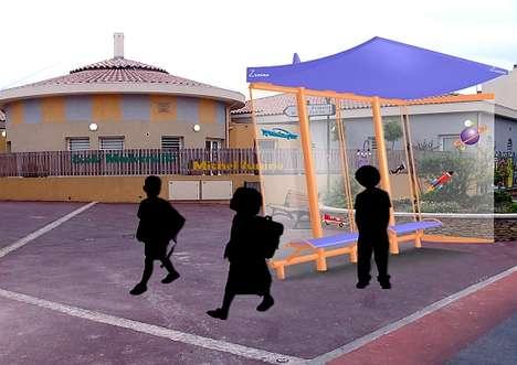 Solar-Powered Bus Stops