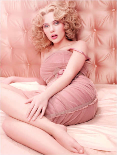 Rosy Fragrance Ads - Scarlett Johansson Goes Pink for Dolce & Gabbana's 'Rose the One'