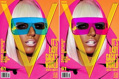 Innovative Magazine Covers - V Magazine Offers Peel-Off Lady Gaga Glasses