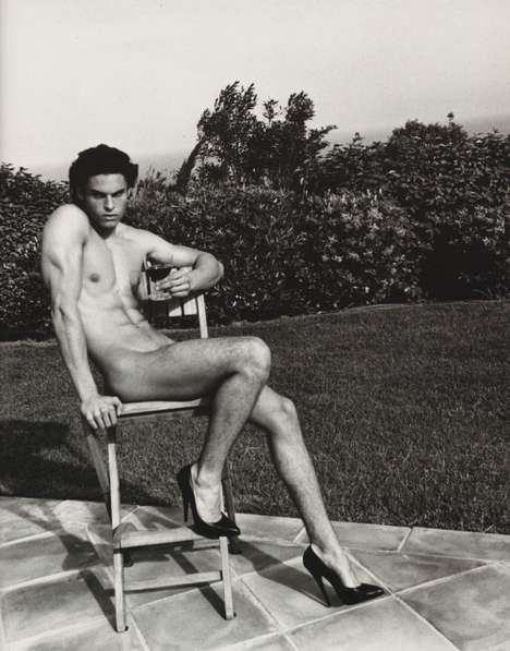 Tribute Cross-Dressing - Karl Lagerfeld ReCreates Helmut Newton Woman with Male Model
