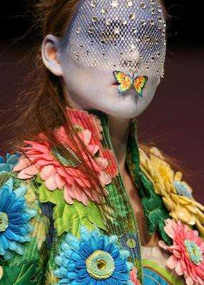 Hallucinogenic Make-Up - Manish Arora's Edgy Cosmetic Embellishments