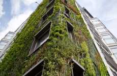 8-Story Vertical Gardens - Patrick Blanc Makes Epic Greenery on Walls of Athenaeum Hotel