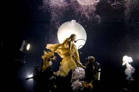 Underwater Stages - Phoebe Rudomino Brings Underwater Fashiontography Subjects Below the Surface