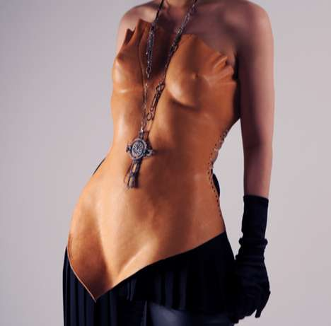 Nude Corsets - Luxirare Molds Un-Dyed Leather into a Scandalous Risky Fashion
