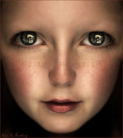 Human Dolls - Bizarrely Wide Eyed Photographer by Nina Sundberg