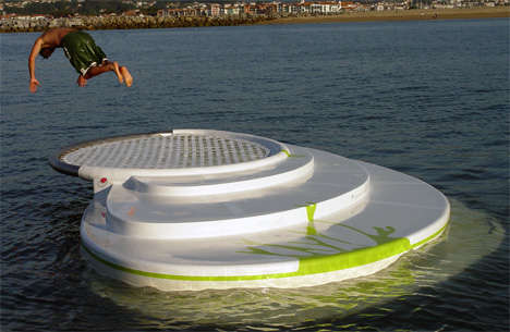 Marine Furniture - The Zilborrerstea is a Floating Lounger Meets Diving Block