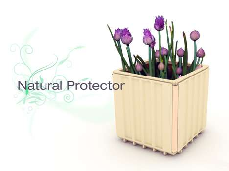 Flower-Top Architecture - The Natural Protector is an Eco Roof Made of Pots