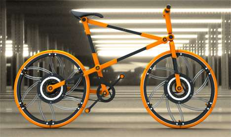 Boxed Bikes - Victor Aleman's Bicycle Folds Up for Small Space Accommodation