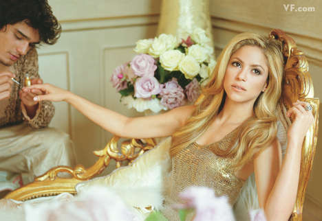 Diva Lifestyle Shoots - Shakira Gets Pampered in Vanity Fair