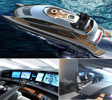 Spacecraft-Inspired Yachts - Porsche Design Group & Royal Falcon Fleet Team Up for the RFF135