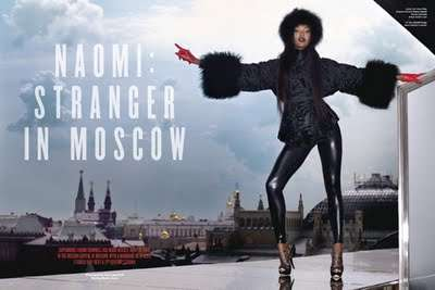 Rooftop Moscow Photoshoots - Karl Lagerfeld Captures Naomi Campbell for V #61