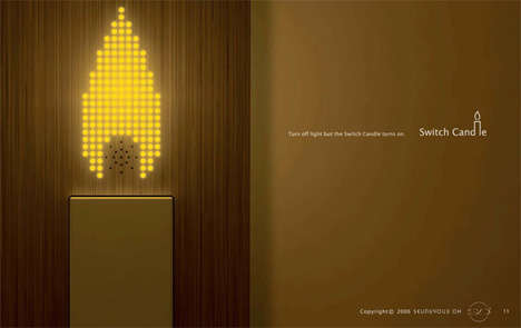 LED Wall Candles - The 'Switch Candle' Adds Romance to Any Room