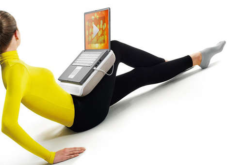 Computer Cushions - The CushionSpeaker Laptop Stand Lets You Type in Comfort