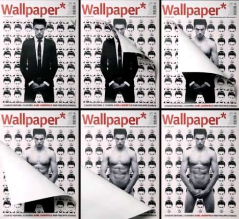 Undressing Magazine Covers - Wallpaper* Peels Away Clothes in October Issue