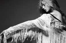 Fringed Fashion Photos - Hedi Slimane and Anna Selezneva Go Grunge for Vogue Paris