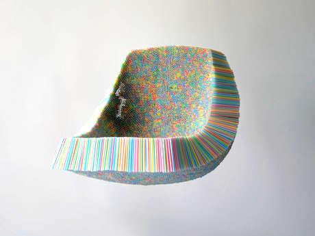 Plastic Straw Seating