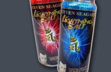 Celebrilicious Energy Drinks - Steven Seagal's Lightning Bolt Quenches the Thirst Down Below