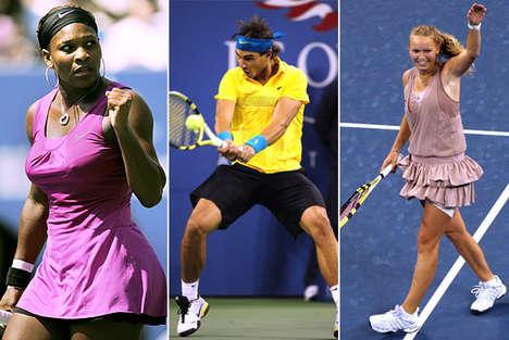Kaleidoscopic Tennis Fashion