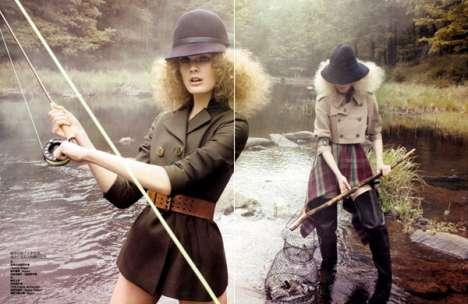 Fashionable Fishing Photography