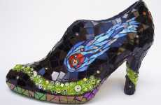 Stained Glass Shoes - Kraken Mosaics' 'Space Case' is a Psychedelic Cinderella Shoe