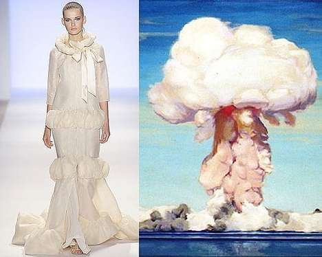 Atomic Attire - Erin Fetherston's 2010 Mushroom-Cloud Fashion Collection