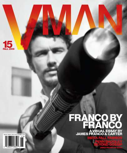 Weapon-Wielding Covers - James Franco VMAN Fall Issue Glamorizes Violence