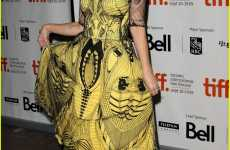 Sunny Insect Couture - Drew Barrymore at TIFF in Yellow Alexander McQueen Dress