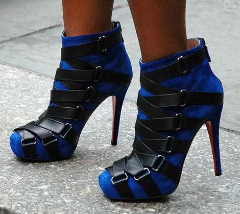 Strappy Shoe Boots: Christian Louboutin