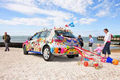 Souvenir-Plastered Cars