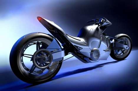 Sleek Sci-Fi Superbikes